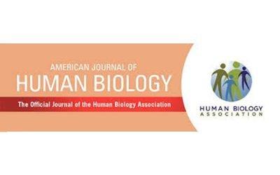 Artículo publicado en American Journal of Human Biology