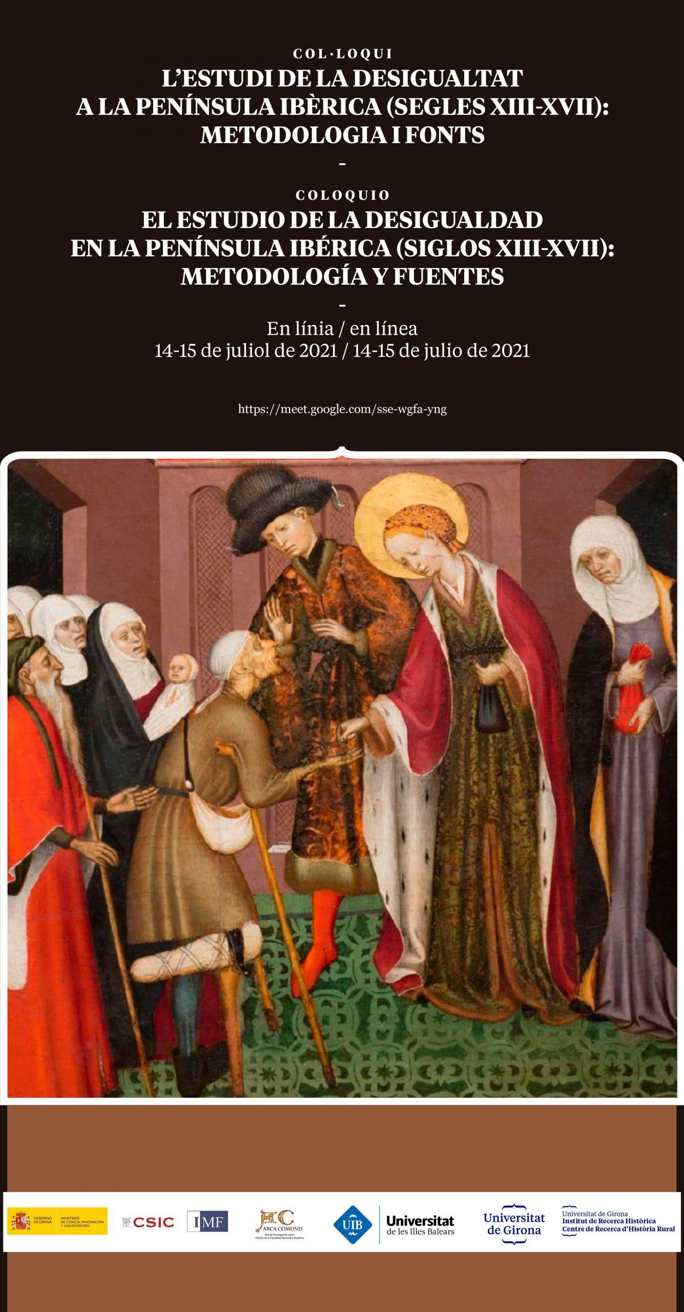 Coloquio sobre El estudio de la desigualdad en la península ibérica (siglos XIII-XVIII)